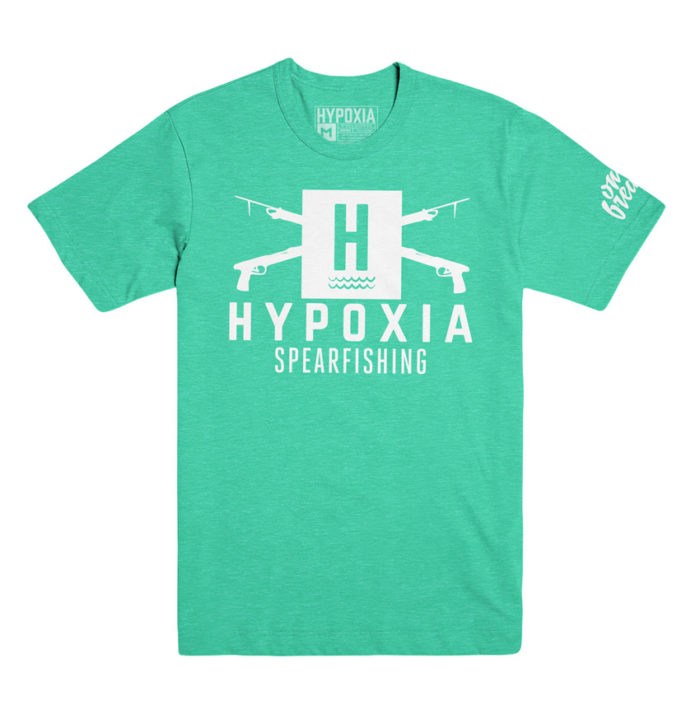 Hypoxia Freediving Spearfishing Classic Logo Tshirt Kelly