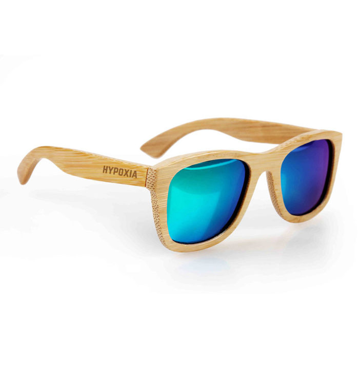 Hypoxia Freediving Spearfishing Bamboo Floating Polarized Sunglasses, Ulua Blue