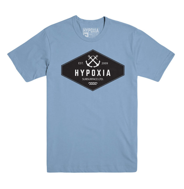 Hypoxia Freediving Spearfishing Anchored Tshirt