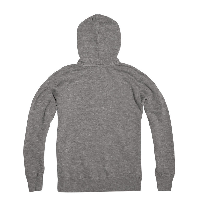 Hypoxia Freediving Spearfishing Crossed Anchor Hoodie Grey BACK