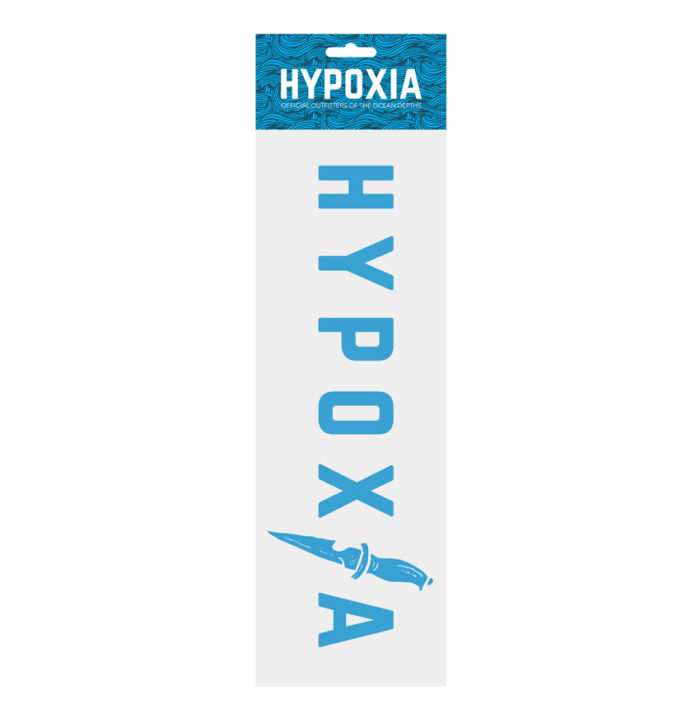 Hypoxia Freediving Spearfishing Dive Knife Decal Blue