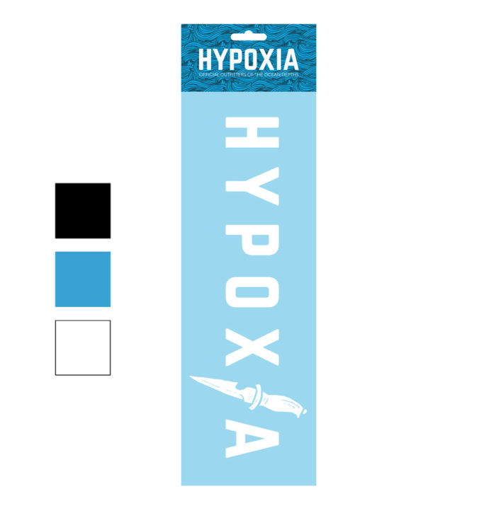 Hypoxia Freediving Spearfishing Dive Knife Decal Color Options