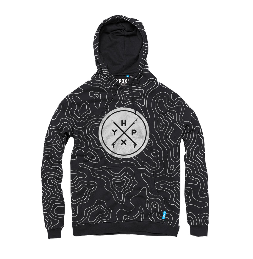 Hypoxia Freediving Spearfishing Epic Subsurface Hoodie Black FRONT