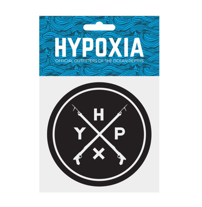 Hypoxia Freediving Spearfishing Icon Badge Decal Black