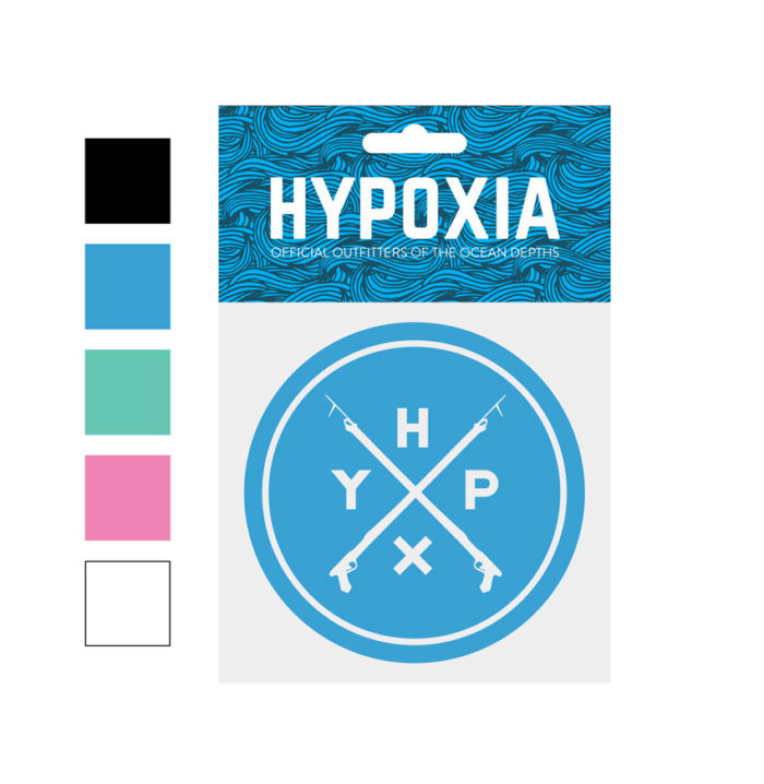 Hypoxia Freediving Spearfishing Icon Badge Decal Color Options