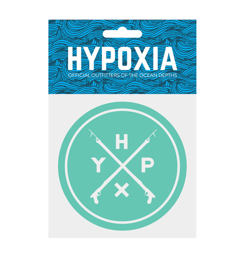 Hypoxia Freediving Spearfishing Icon Badge Decal Seafoam