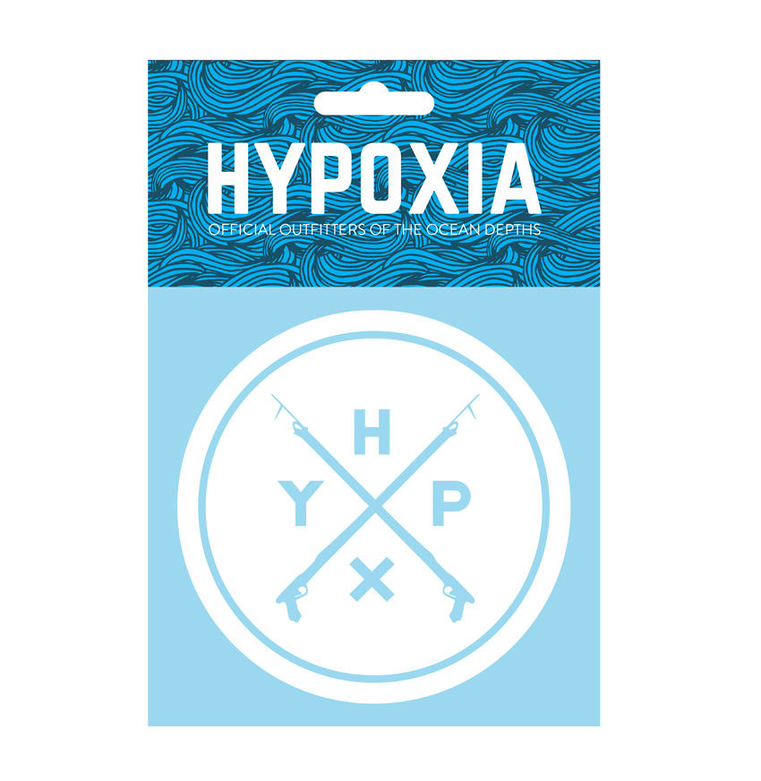 Hypoxia Freediving Spearfishing Icon Badge Decal White