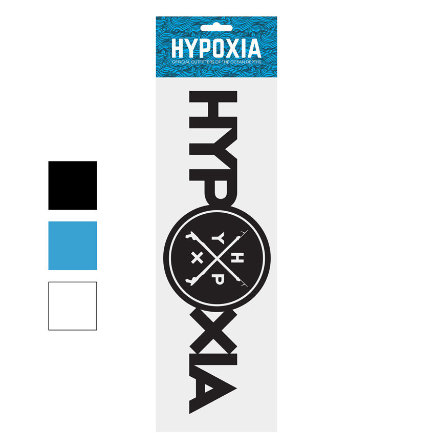 Hypoxia Freediving Spearfishing Iconography Decal Color Options