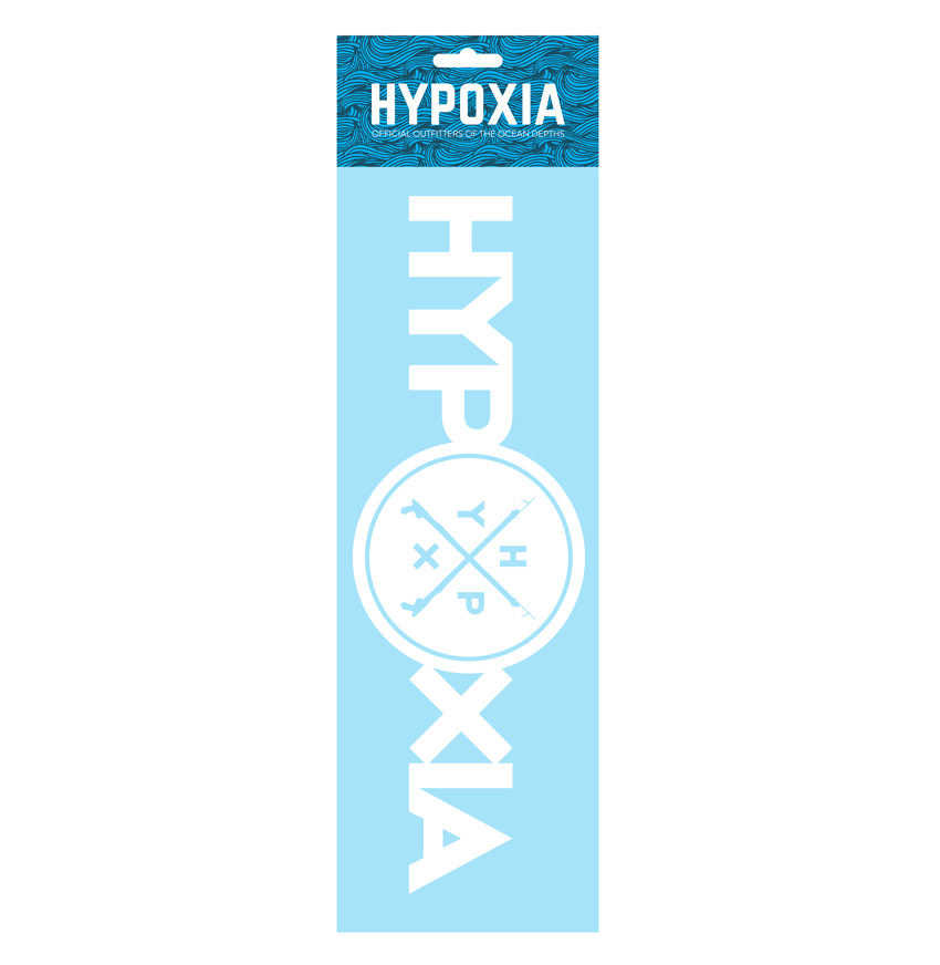 Hypoxia Freediving Spearfishing Iconography Decal White