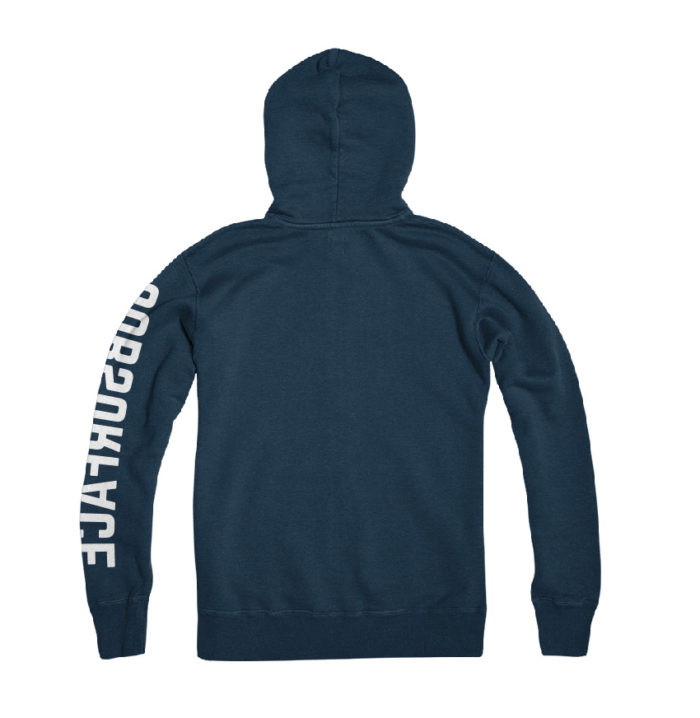 Hypoxia Freediving Spearfishing Subsurface Laurels Hoodie Navy Back