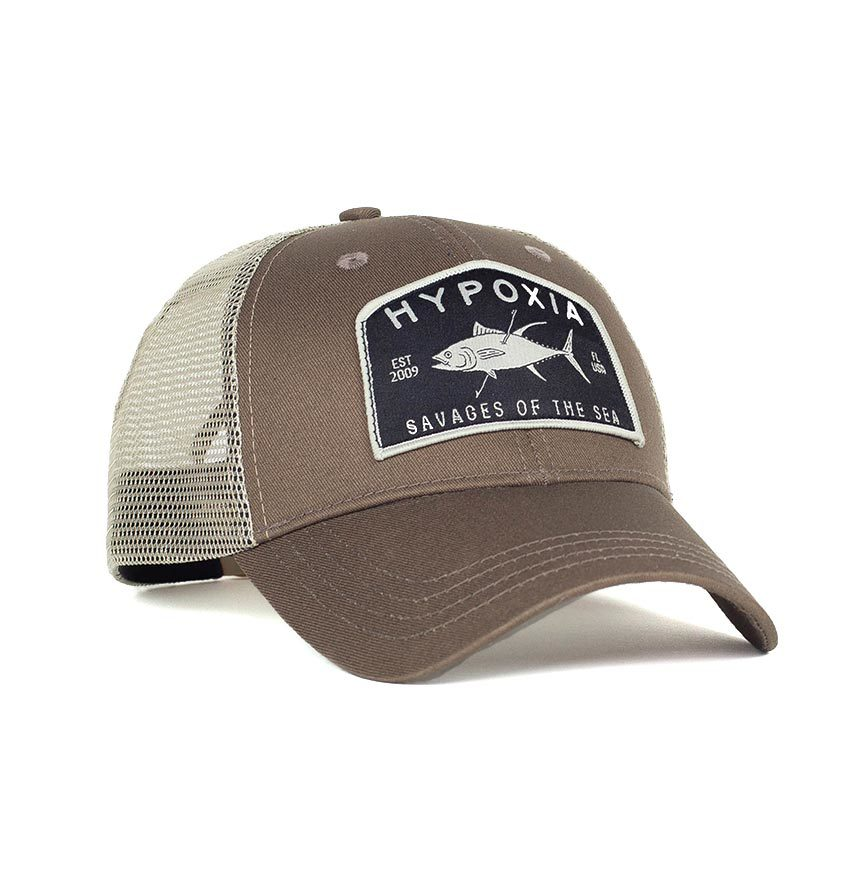 Savagery Tuna Coyote Freediving Spearfishing Trucker Hat Front
