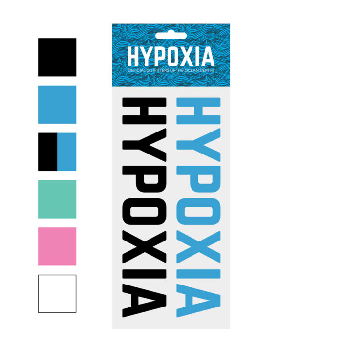 Hypoxia Freediving Spearfishing Twin Pack Decals Color Options