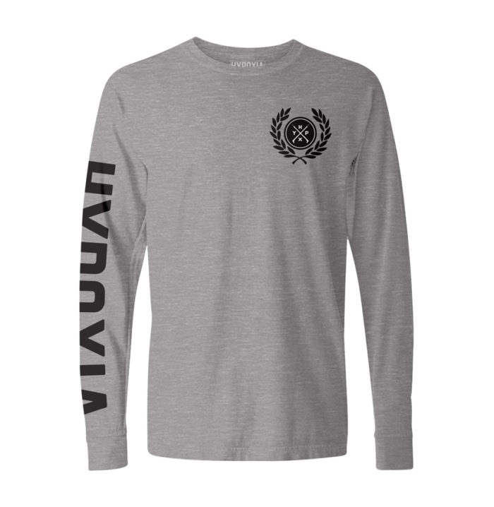 Hypoxia-Freediving-Spearfishing-Laurel-Icon-Longsleeve-Boat-Tee-Grey-FRONT