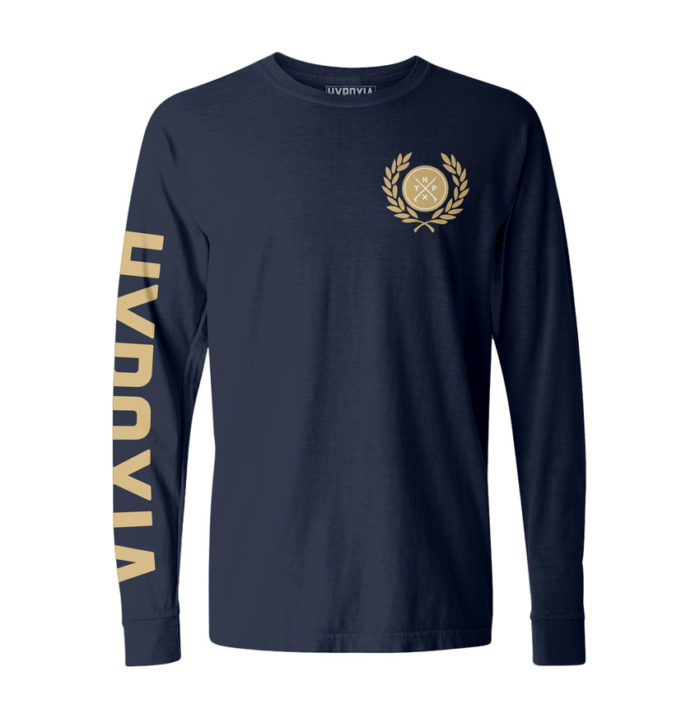 Hypoxia-Freediving-Spearfishing-Laurel-Icon-Longsleeve-Boat-Tee-Navy-FRONT