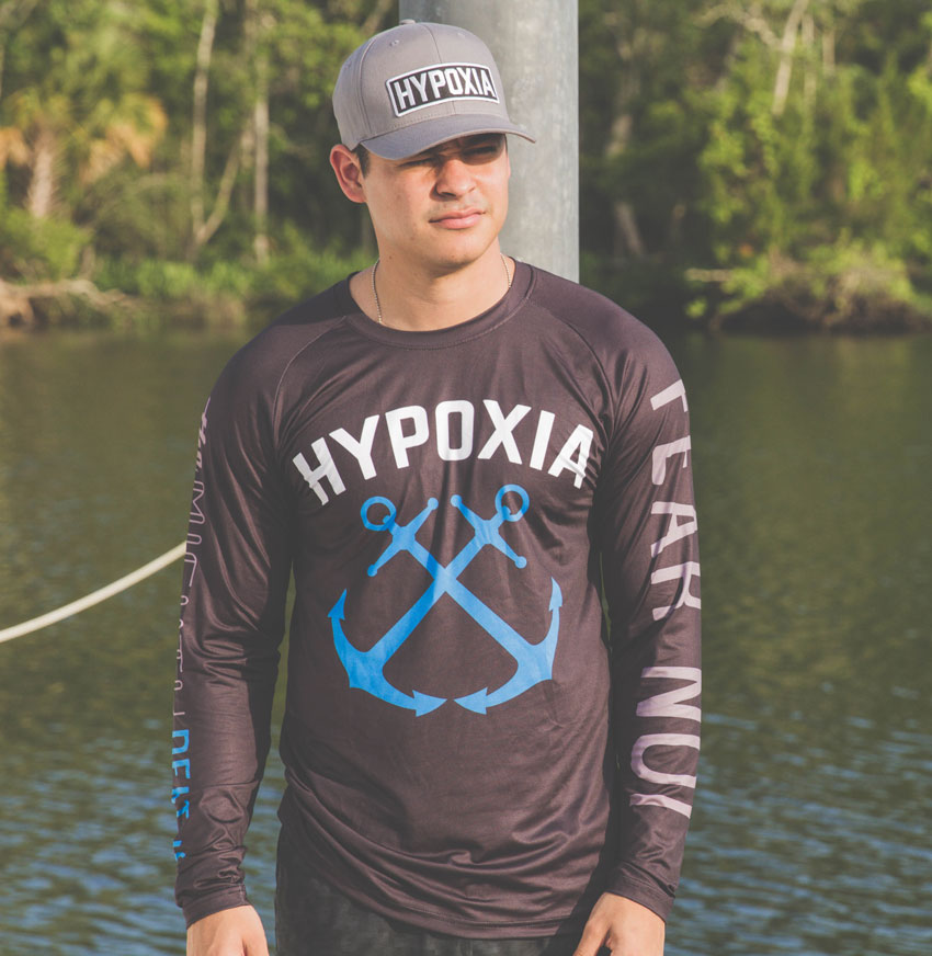 Hypoxia Freediving Spearfishing Fear Not the Mighty Depths Hex Dri Technical Model