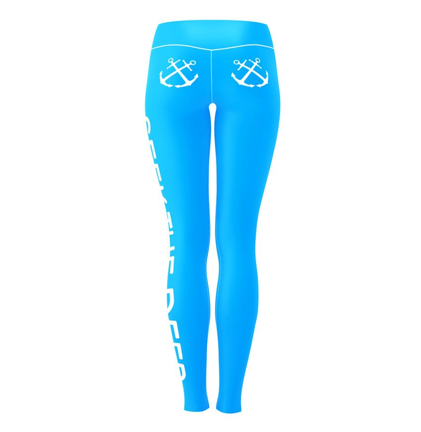 Hypoxia Freediving Spearfishing Seek the Deep Dive Leggings BACK