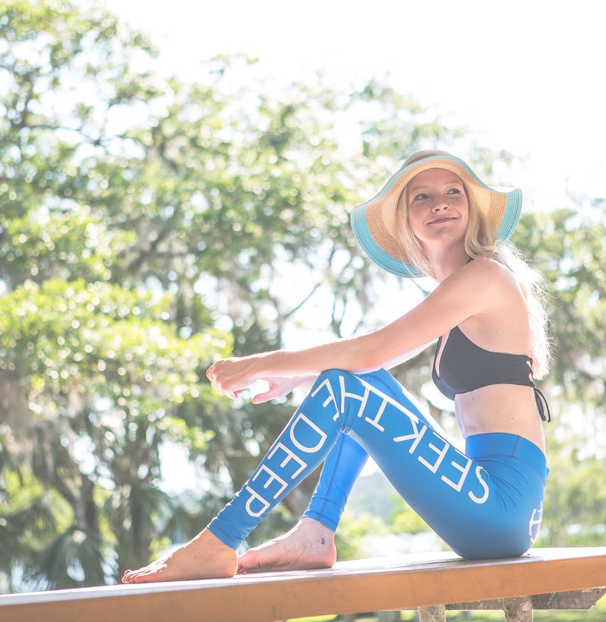 Hypoxia Freediving Spearfishing Seek the Deep Dive Leggings Model