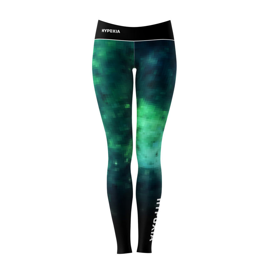 Hypoxia Freediving Spearfishing Springs Digital Dive Leggings FRONT