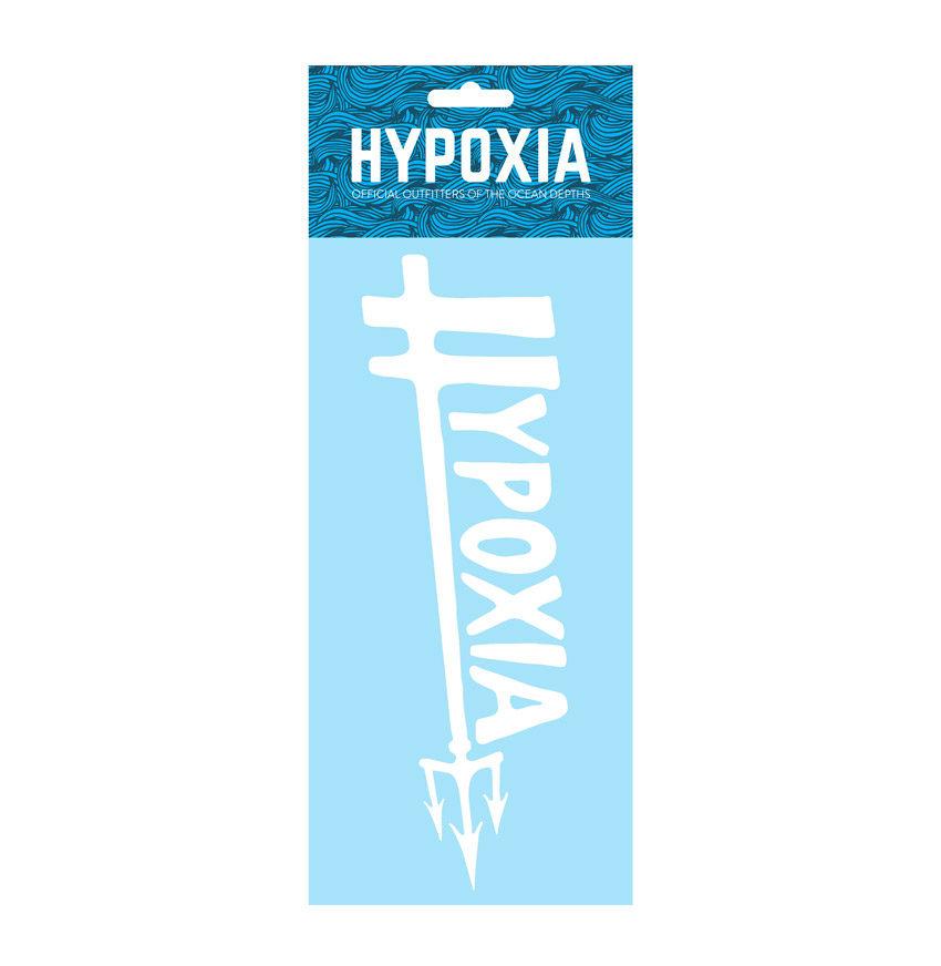 Hypoxia Freediving Spearfishing Poseidon Logo Decal Sticker White