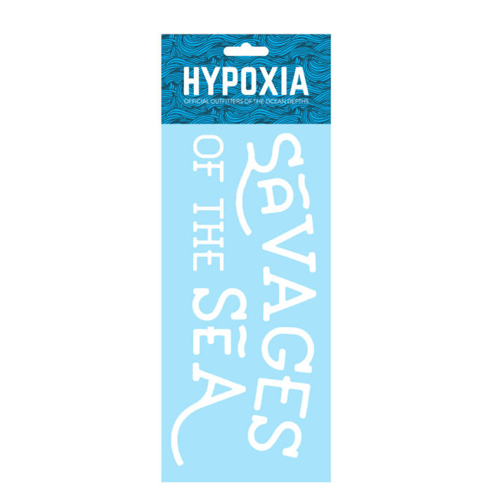 Hypoxia Freediving Spearfishing Savages of the Sea Decal White