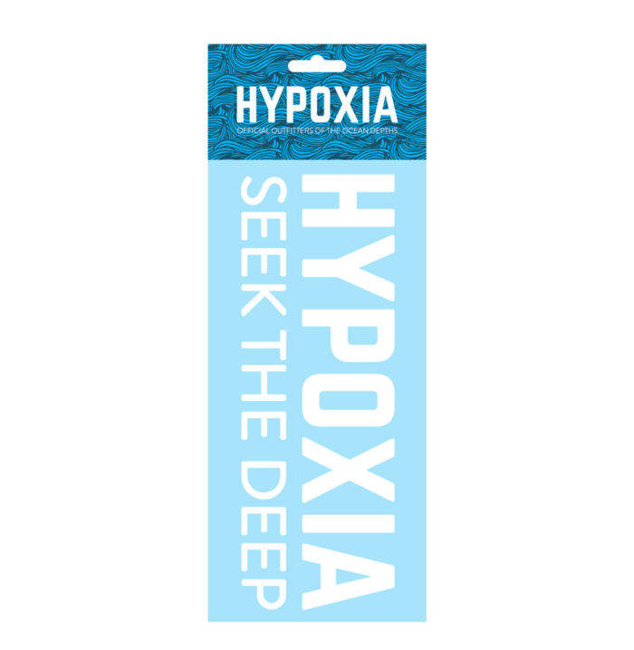 Hypoxia Freediving Spearfishing Seek the Deep Decal White