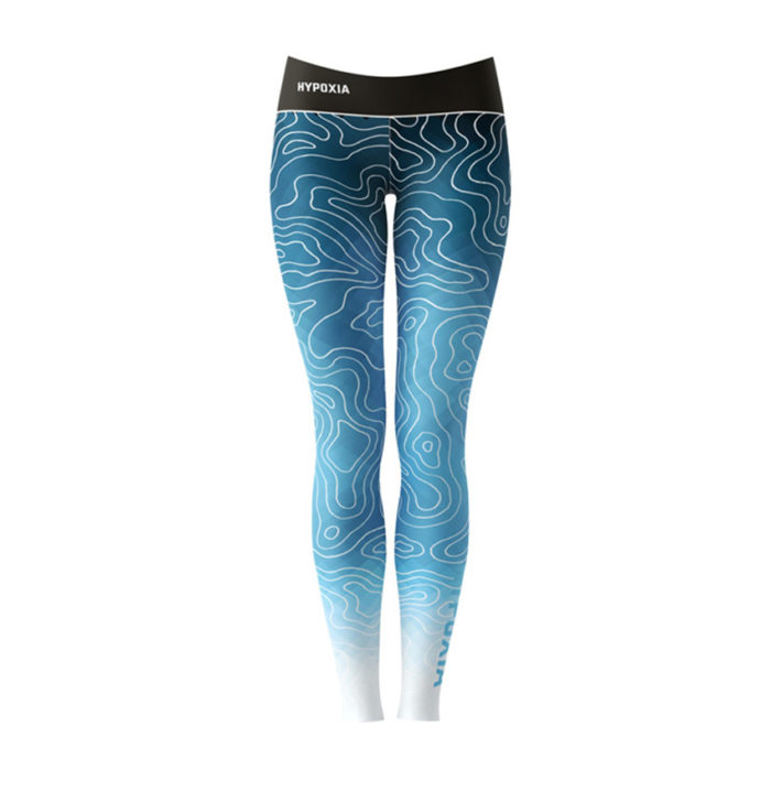 Hypoxia Freediving Spearfishing Epic Subsurface UPF 50 Sun Protection Hex Dri Dive Leggings Front