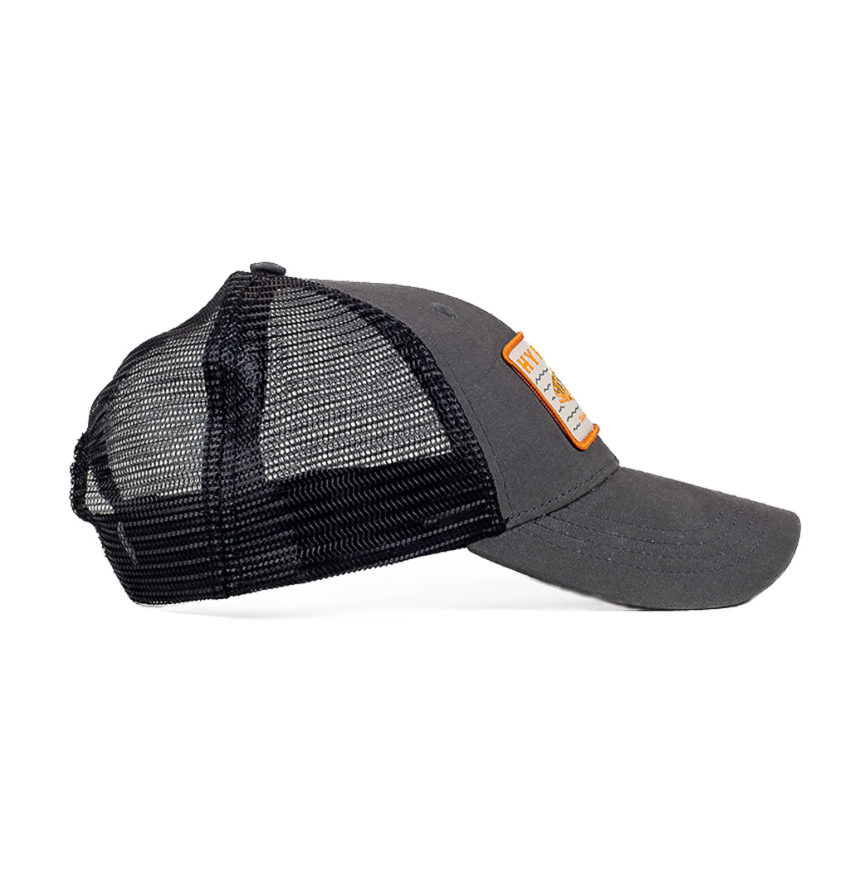 Savage Grouper Charcoal Freediving Spearfishing Trucker Hat Side