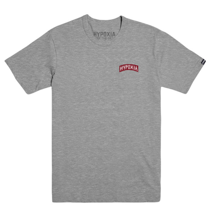 Hypoxia Freediving Spearfishing Archway Tshirt Heather Grey Front
