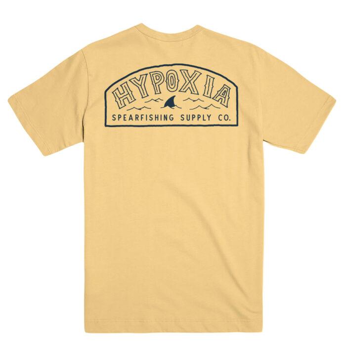 Hypoxia Freediving Spearfishing Fin Badge Tshirt Pigment Pineapple Back