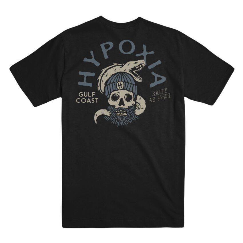 Hypoxia Freediving Spearfishing Salty AF Phantom Tshirt Phantom Back