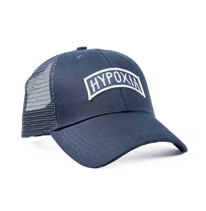 HYPOXIA Spearfishing Freediving Archway Trucker Hat Navy Front