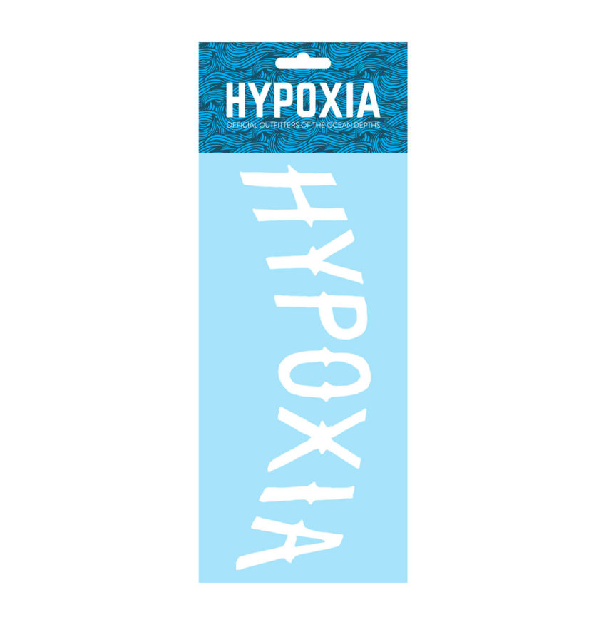 HYPOXIA Freediving Spearfishing Archway Logo Decal Sticker White