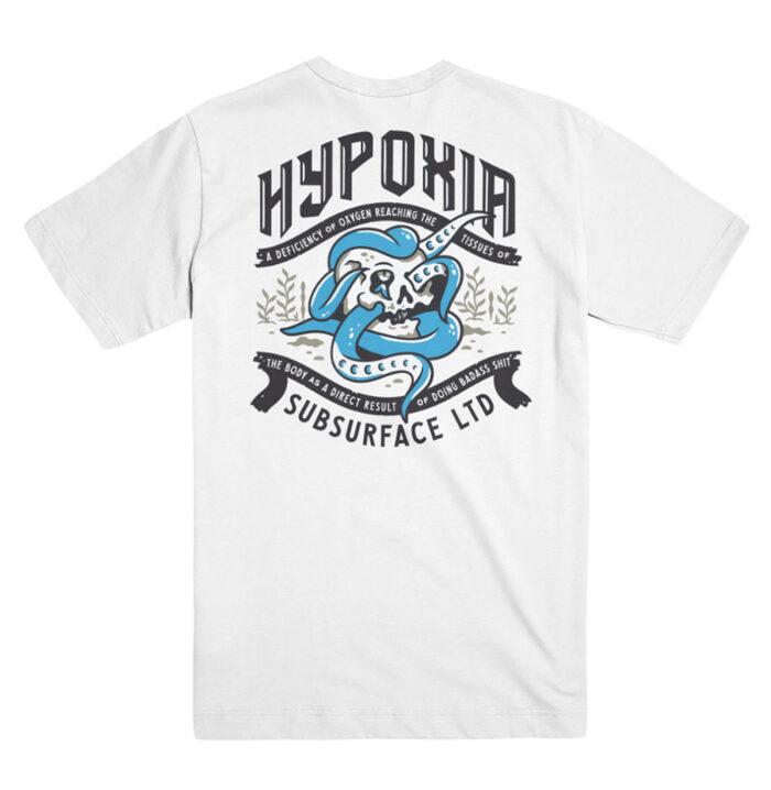 HYPOXIA Freediving Spearfishing Definition Redux Tshirt White Back